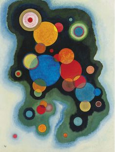 Sassily Kandinsky, VERTIEFTE REGUNG (DEEPENED IMPULSE), 1928,  Oil on canvas, 39 3/8 by 29 7/8 in., 100 by 76 cm