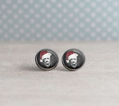 Edgar Allan Poe Earrings - Christmas - Poe - Gifts for Librarian - Literary Gifts - Stocking Stuffer - Poe Gifts - Book Lover (P5608)