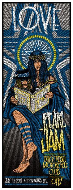 Pearl Jam Brad Klausen, Ames Bros & London Police Milton Keyes Posters