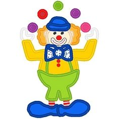 Circus Clown Applique - 3 Sizes!   Featured Products   Machine Embroidery Designs   SWAKembroidery.com