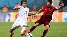 Jermain jones y Moutinho ennel mundial de Brasil 2014