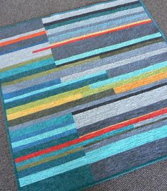 Mid-Century Modern Crib Quilt by quiltsbydesign on Etsy