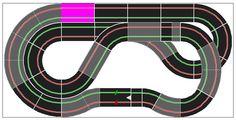 Largest carerra evolution slot car track on 2.40 m x 1.20 m space.