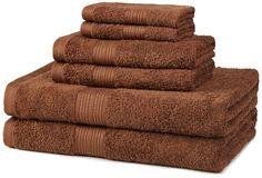 Fade-Resistant Cotton 6-Piece Bathroom Towel Set