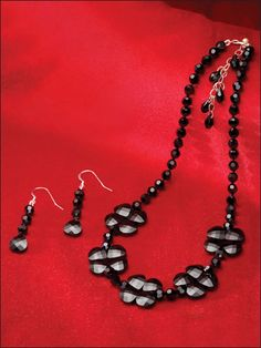 Beading - Jewelry Patterns - Sets Patterns - Crystal Midnight