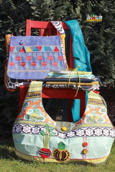 Mein Taschenspieler As ... One Bag, Sewing Hacks, Frocks, Totes, Embroidery, Purses, Boho, Fabric, Bags