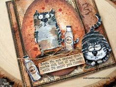 Tim Holtz Snarky Cat Framelit Release – Audrey Pettit Designs Tim Holtz Stamps, Crafty, Personalized Items, Cards, Design, Maps, Playing Cards