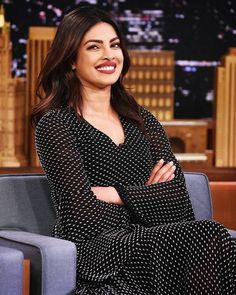 Priyanka Chopra on The Tonight Show. #Bollywood #Fashion #Style #Beauty #Hot #Sexy