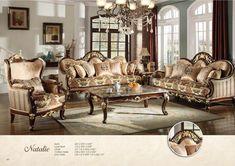 Tuscan design – Mediterranean Home Decor Glamour Living Room, Living Room Sets, Home Living Room, Living Room Furniture, Living Room Decor, Wooden Furniture, House Paint Interior, Country House Interior, Interior Design