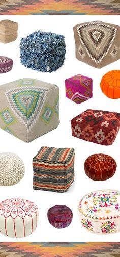 Textured Poufs from Dot & BO