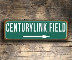 CENTURYLINK FIELD Signs, Vintage style Centurylink Field Signs, Centurylink Field Signs, Home of Seattle Seahawks, Football Gifts by FanZoneSigns on Etsy