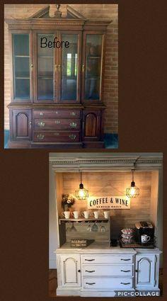Diy Furniture Renovation, Furniture Projects, Furniture Making, Furniture Makeover, Refurbished Furniture, Repurposed Furniture, Coffee Bar Home, Furniture Restoration, Repurposing