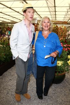 Ben and his mum at the Chelsea flower show