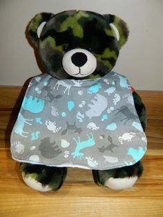 Infant Boys Bib with Forest Animals by OhSewCuteBags on Etsy, $7.00