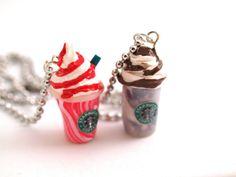 Starbucks Collier Frappucino Fimo pâte polymère par MignonnerieShop
