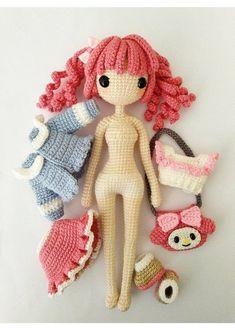 Cute Crochet, Crochet Crafts, Crochet Toys, Crochet Projects, Crochet Braid, Knitted Dolls, Crochet Patterns Amigurumi, Amigurumi Doll, Crochet Dolls Free Patterns