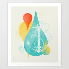 Dropping Anchor Art Print by Sarah Palisi Design - $20.00