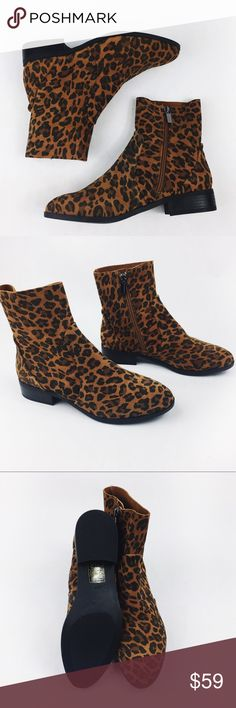 TOPSHOP CHEETAH ANKLE LEATHER BOOTS SZ7 Brand. Ew with tags, gorgeous TOPSHOP CHEETA leather ankle boots in size 7. Just divine and perfect! No flaws! Make an offer! Topshop Shoes Ankle Boots & Booties