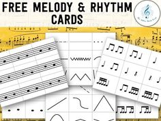 Instrument Exploration Day: FREE melody and rhythm cards. You could use these for so many things and they are FREE!