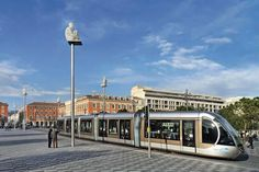 Nice Photos at Frommer's - Tram Line A of the Nice-Côte d'Azur tramway in Nice, France.
