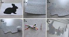Basteln mit glitzerndem Papier - Eine glamouröse Girlande