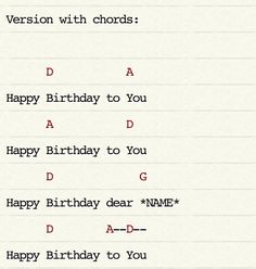 Traditional happy birthday ukulele chords                                                                                                                                                                                 More