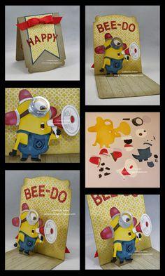 H2 Designs - Bee-Do Minion Pop n Cuts Card