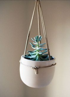 Limited Edition Hanging Ceramic Planter by ClamLab get it here http://shop.wilderquarterly.com/collections/art-prints/products/limited-edition