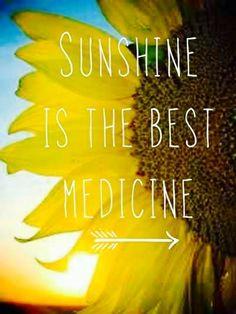 Sunshine is the best medicine