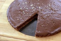 Salted Chocolate Tart - Gluten-free, Grain-free + Vegan: