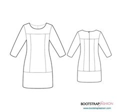 Dress With Front And Back Yokes
