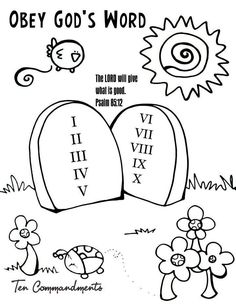 Obey bible activity sheet for sunday school from www for Obey god coloring page