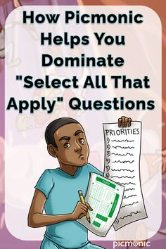 In this webinar, Kendall Wyatt, RN, shows you how Picmonic helps you dominate those dreaded Select All That Apply questions!