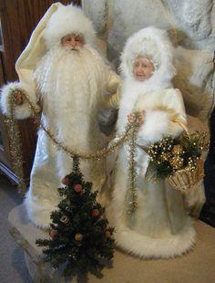 OOAK+Santa+and+Mrs.+Claus+handsculpted+by+Karen+Vander+by+karenvl
