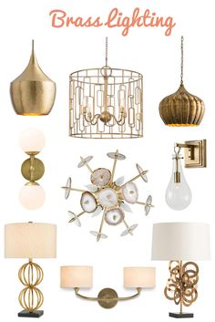 Browse our selection of gold & brass lighting. From elegant transitional chandeliers to contemporary pendant lighting. Contemporary Wall Sconces, Transitional Chandeliers, Pendant Lighting, Light Fixtures, Projects To Try, Table Lamp, Brass, Inspire, Ceiling Lights