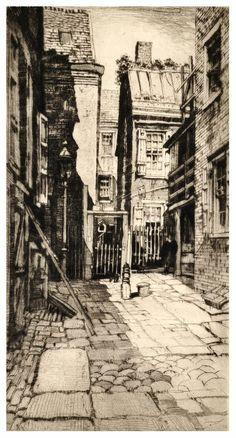 Samuel V. Chamberlain (1875-1975, American) - Boston courtyard - 1935