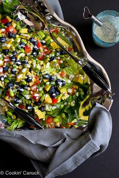 The Ultimate Summer Salad Recipe with Dill Buttermilk Dressing | cookincanuck.com #vegetarian #MeatlessMonday by CookinCanuck, via Flickr