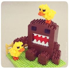 nanoblock Domokun having a Duckie problem ... LOL ... http://fb.inanoblock.com for more
