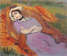 Reclining Woman in a Landscape (Marguerite), 1918 - Henri Matisse - WikiArt.org