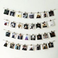 113 Beautiful Polaroid Photos Display Ideas Developing a montage of images might be a little tricky to determine where to start and after that how to balance the sizes along with layout. These creative thoughts are an excellent source to utiliz Photo Polaroid, Polaroid Wall, Polaroids On Wall, Instax Wall, Decoration Bedroom, Diy Room Decor, Home Decor, My New Room, My Room