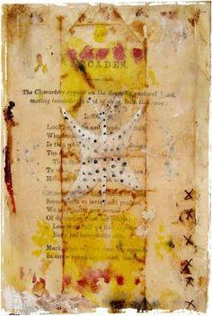 lynne hoppe: wax and tea bags tutorial