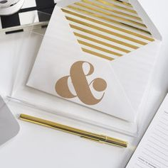 Acrylic And Gold Letter Holder