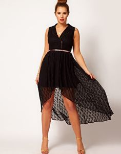 Plus Size ASOS CURVE Biker Dress In Lace - Can't decide if I love or hate...