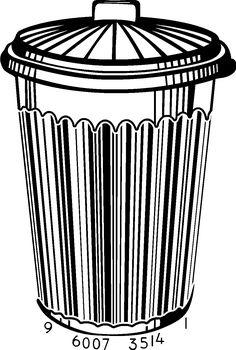 BAR CODE Trash Can