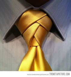- aka the merovingian tie knot from the matrix  The coolest way to tie a tie: Eldredge necktie knot…this is cool. You can google and find the YouTube video on how to do it. I watched and did it. Way easy.