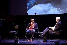 Eröffnung: Teju Cole und Wolfgang Herles (6.11.2013) © Kerstin Dahnert/Münchner Bücherschau #litmuc13