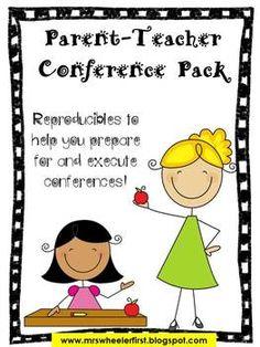 Parent Teacher Conference Resource Pack