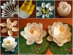 Plastic Spoons Met Creativity and Became These Water Lilies - interiordesign #interior #design #art