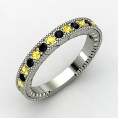 Pittsburgh Steelers - woman's ring inspired by the black and yellow