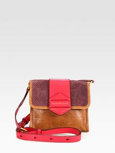 Marc by Marc Jacobs Flipping Out Mixed-Media Colorblock Shoulder Bag